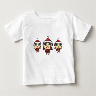Santa Girls Cartoon Infant Tee Shirt