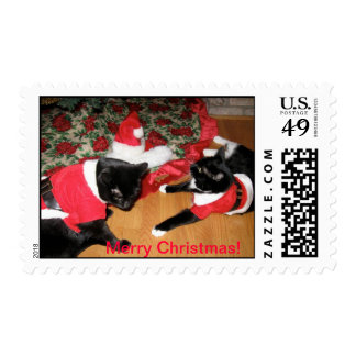 Santa Girls Stamps
