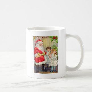 Santa Giving Little Girl A Gift Coffee Mug