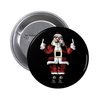 Santa Giving the Finger 2 Inch Round Button