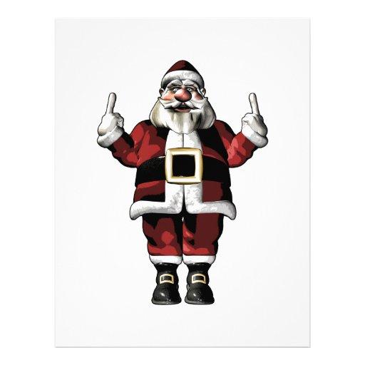 Santa Giving the Finger Personalized Letterhead