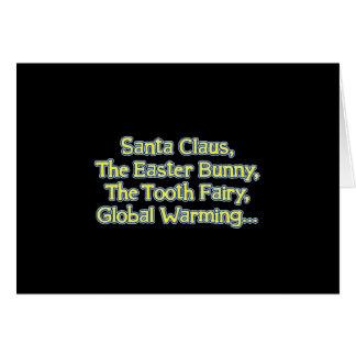 Santa_GlobalWarming_btn_Blk Tarjeta De Felicitación