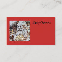SANTA GNOME - FLORAL ENCLOSURE CARD