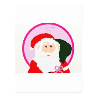 Santa Goes Pink! Postcard