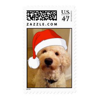 Santa Goldendoodle Stamp