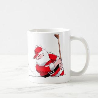 Santa Golf 11 oz mug