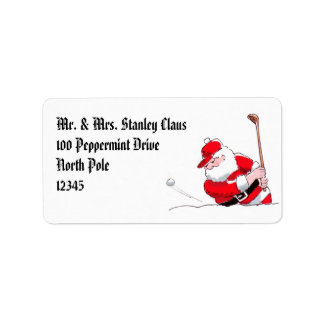 Santa Golf label
