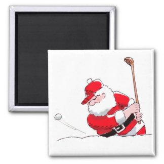 Santa Golf magnet