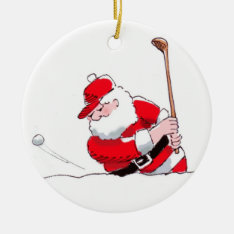 Santa Golf Ornament at Zazzle