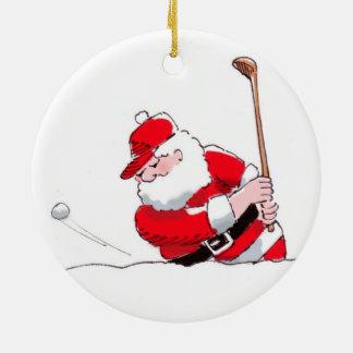 Santa Golf Ornament