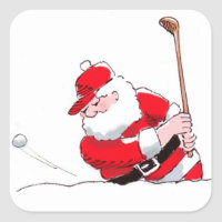 Santa Golf sticker