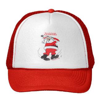 Santa golfing Christmas gifts. Trucker Hat