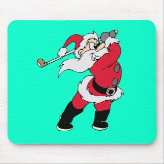 Santa Golfing Holiday Gifts Mousepad