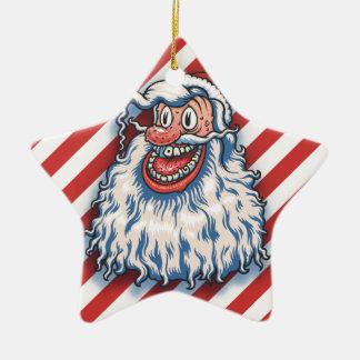 Santa Good Times Ceramic Ornament