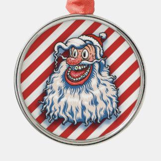 Santa Good Times Metal Ornament