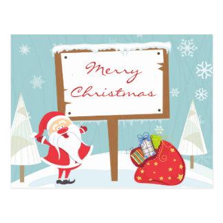 Santa goodies postcard
