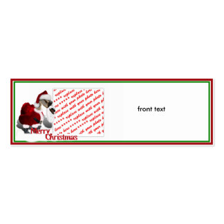 Santa Goose Double-Sided Mini Business Cards (Pack Of 20)