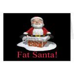 Santa gordo felicitacion