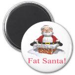 Santa gordo iman de nevera