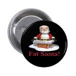 Santa gordo pins