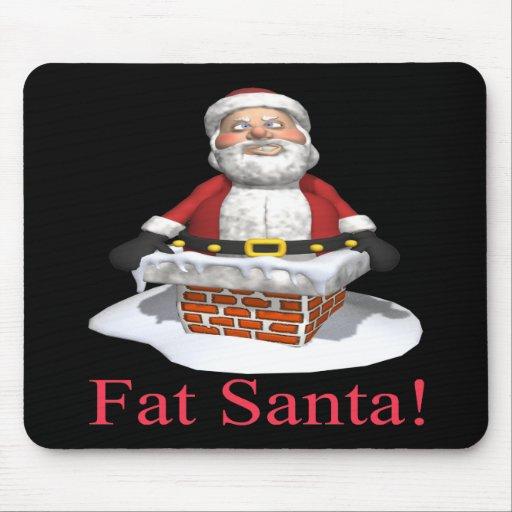 Santa gordo tapete de ratones