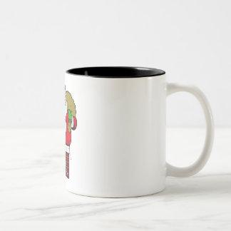 Santa gordo tazas de café