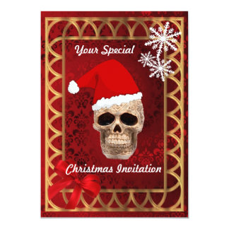 """Santa gótico divertido, navidad invitación 5"""" x 7"""""""