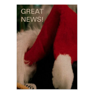 Santa Great News Christmas card