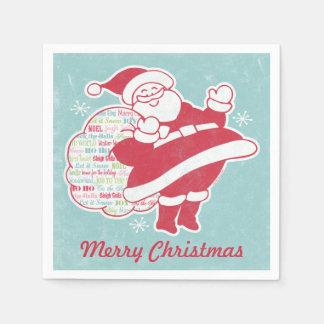 Santa Greetings Disposable Napkin