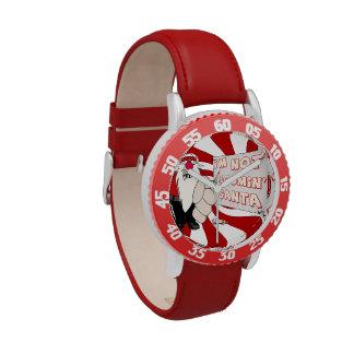 Santa gruñón embroma el reloj ajustable del bisel