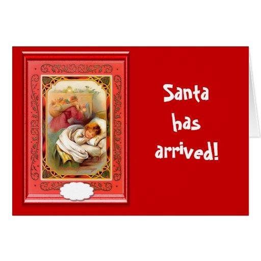 Santa ha llegado tarjetón