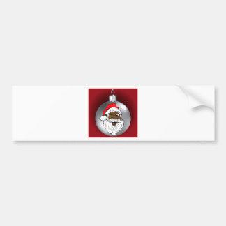 Santa hace frente al ornamento 2 pegatina para auto