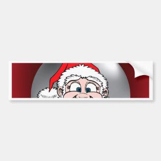 Santa hace frente al ornamento 7 etiqueta de parachoque