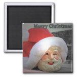 Santa hace frente, imán de las Felices Navidad