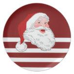 Santa hace frente plato de comida