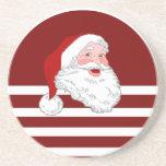 Santa hace frente posavasos diseño