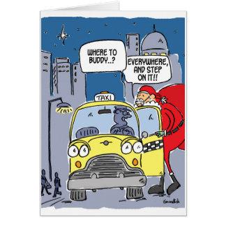 Santa hails a taxi card
