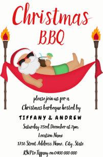 bbq christmas invitations zazzle