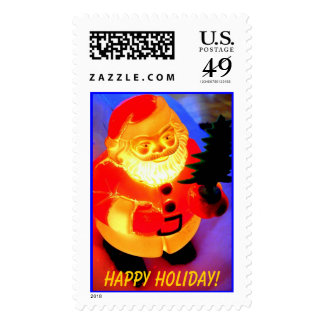 Santa, Happy Holiday! Postage Stamp