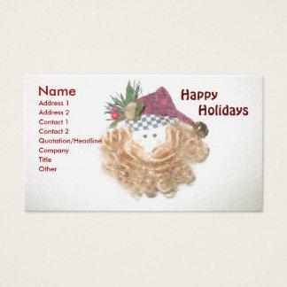 Santa Happy Holidays Business Card