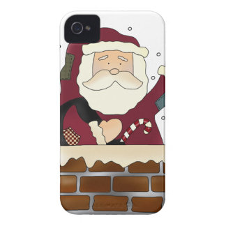 Santa Happy Holidays Case-Mate iPhone 4 Case