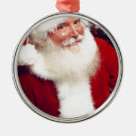 SANTA HAPPY HOLIDAYS CHRISTMAS ORNAMENT