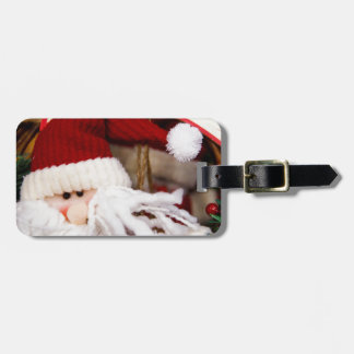 SANTA HAPPY HOLIDAYS TAGS FOR BAGS