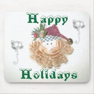 Santa Happy Holidays Mousepad