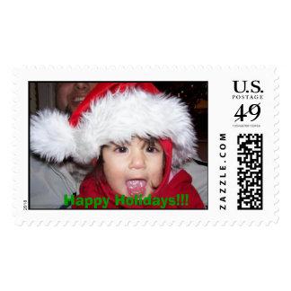 Santa, Happy Holidays!!! Postage Stamp