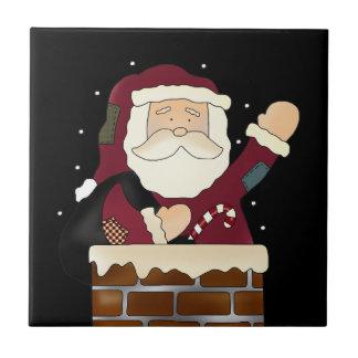 Santa Happy Holidays Ceramic Tiles