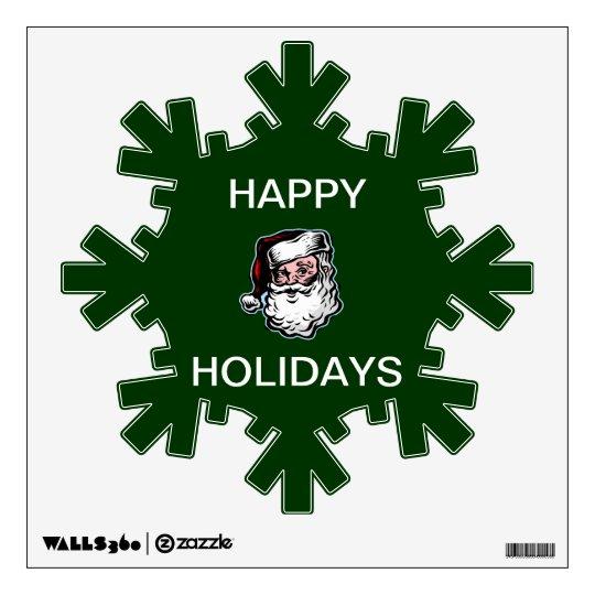 Santa Happy Holidays wall decal