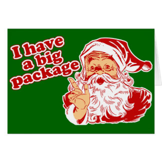 Santa Has A Big Package Cards