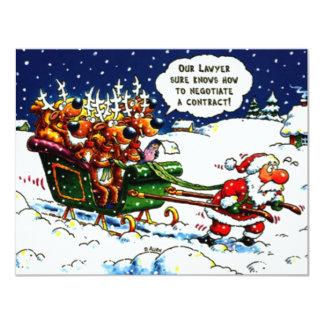 Santa has a flat personalized invitation