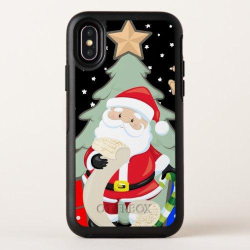 Santa Has A List OtterBox Symmetry iPhone X Case